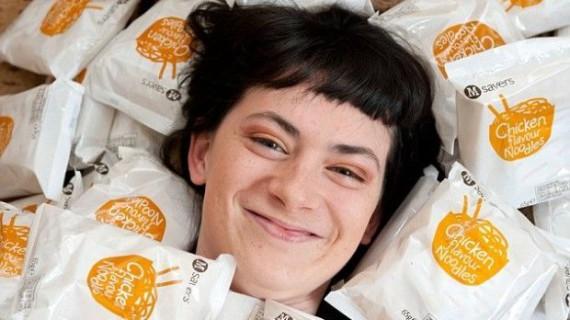 Джорджи Ридмэн ест только лапшу уже 13 лет
