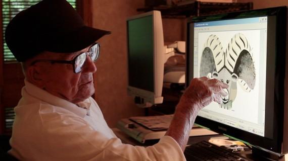 Впечатляющие рисунки в Paint от 98-летнего Халу Ласко